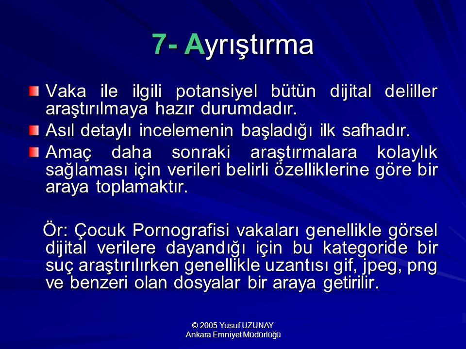 © 2005 Yusuf UZUNAY Ankara Emniyet Müdürlüğü