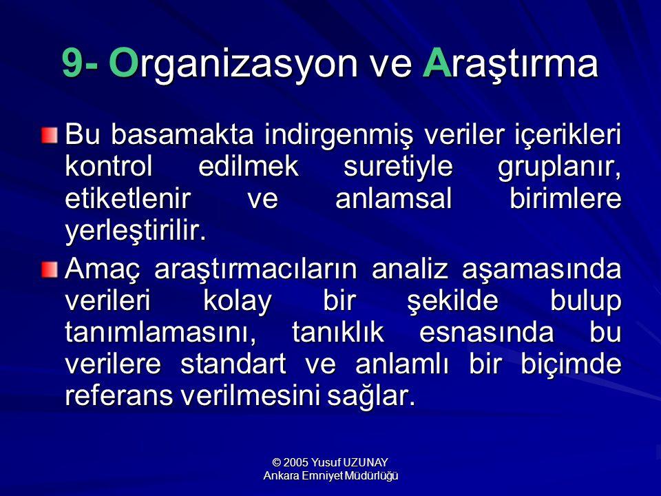 9- Organizasyon ve Araştırma