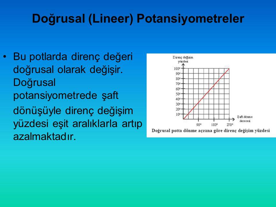 Doğrusal (Lineer) Potansiyometreler