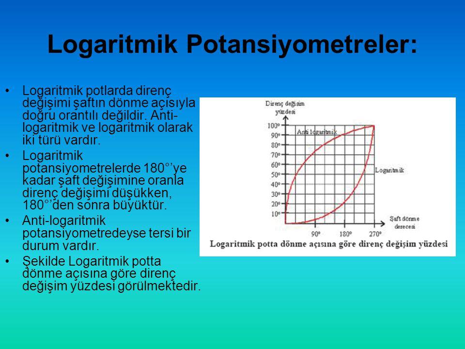 Logaritmik Potansiyometreler: