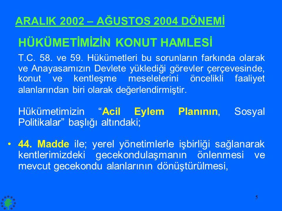 ARALIK 2002 – AĞUSTOS 2004 DÖNEMİ