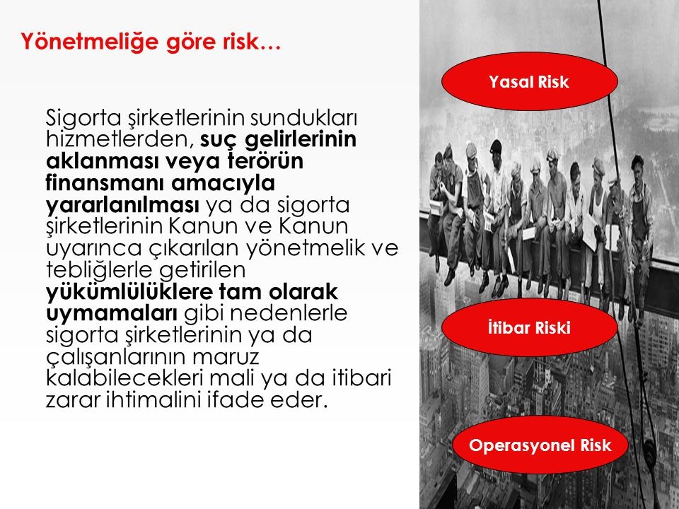 Yönetmeliğe göre risk…