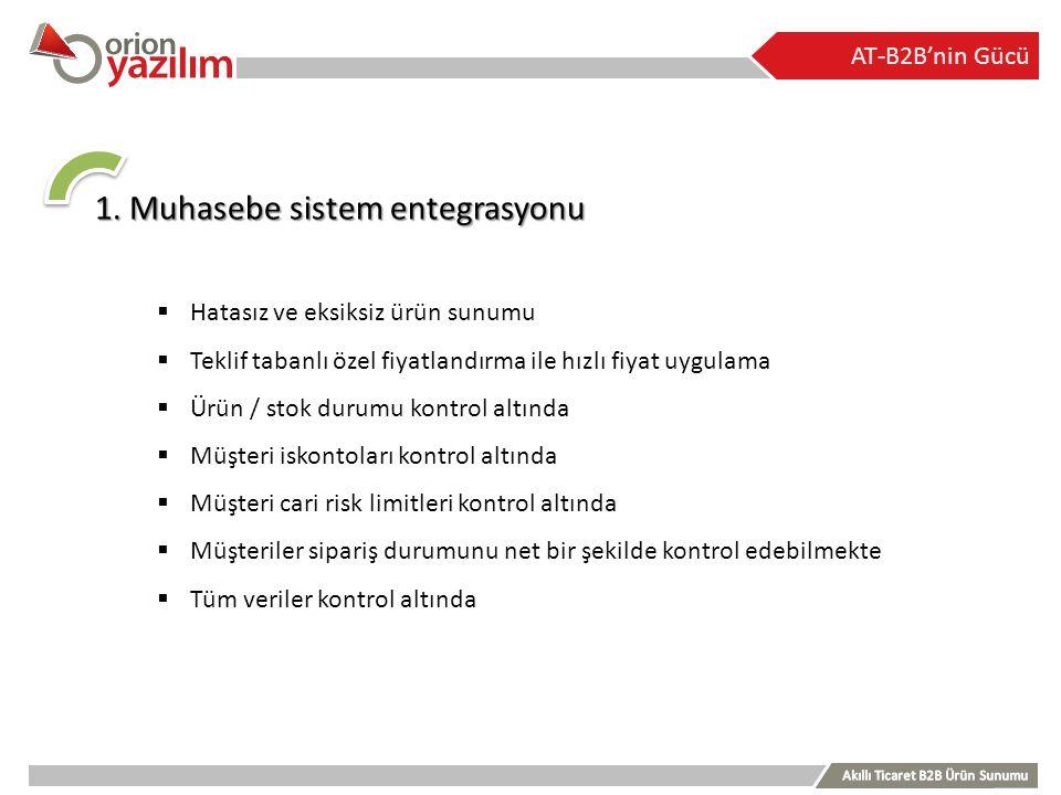 1. Muhasebe sistem entegrasyonu