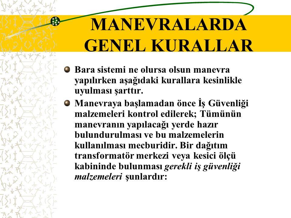 MANEVRALARDA GENEL KURALLAR