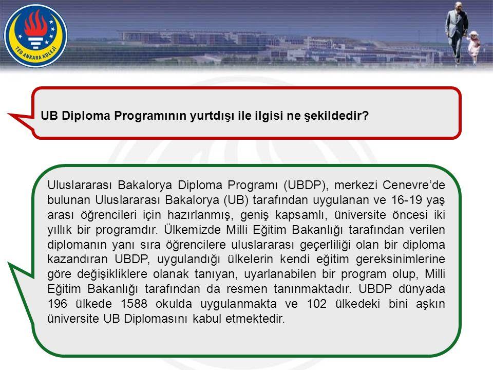 UB Diploma Programının yurtdışı ile ilgisi ne şekildedir
