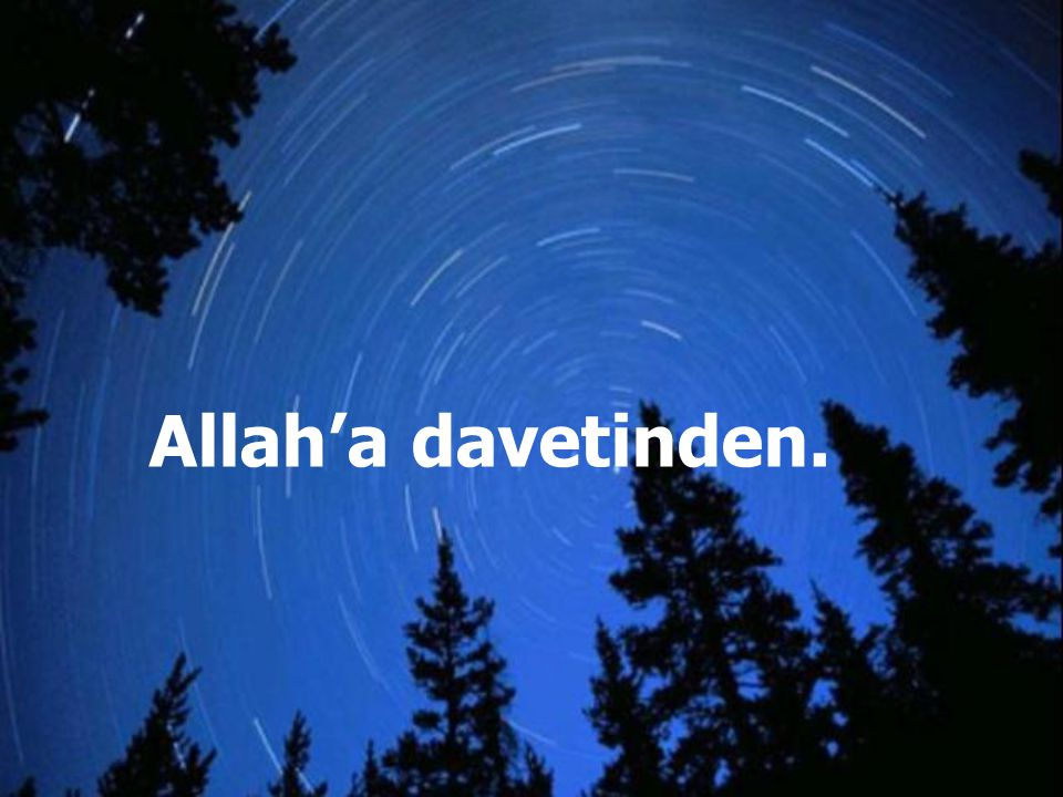 Allah'a davetinden.