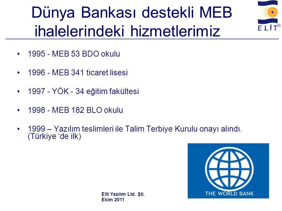 Dünya Bankası destekli MEB ihalelerindeki hizmetlerimiz