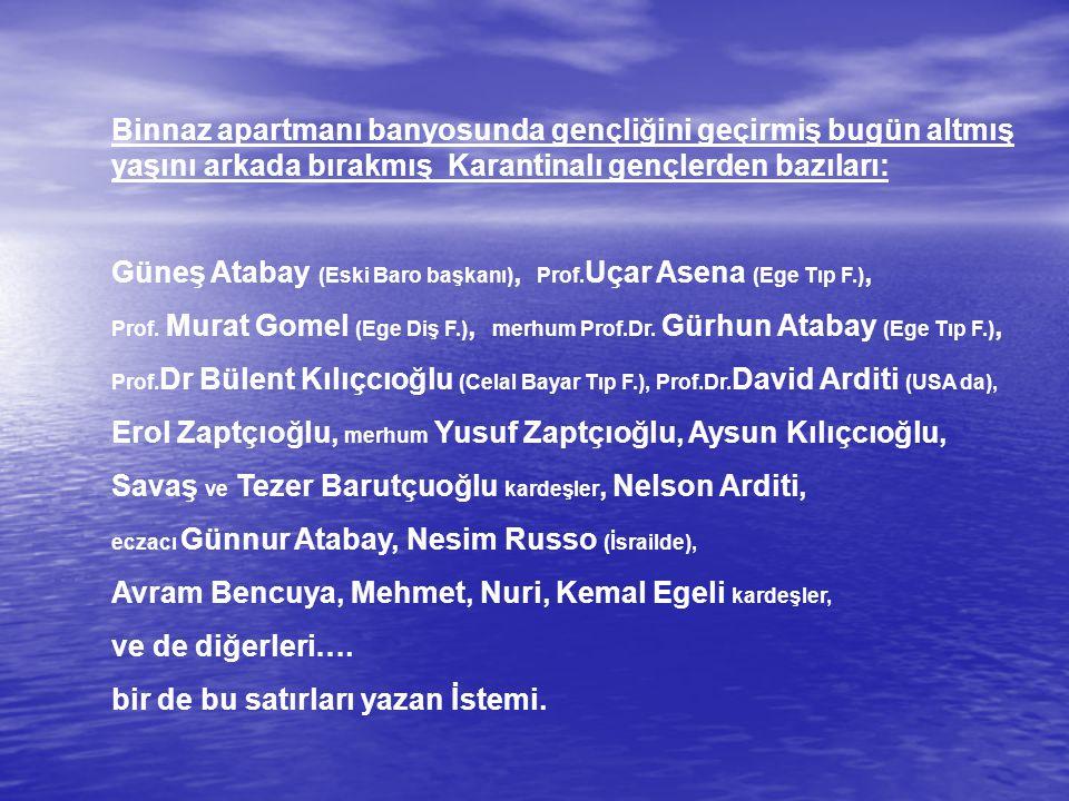 Güneş Atabay (Eski Baro başkanı), Prof.Uçar Asena (Ege Tıp F.),