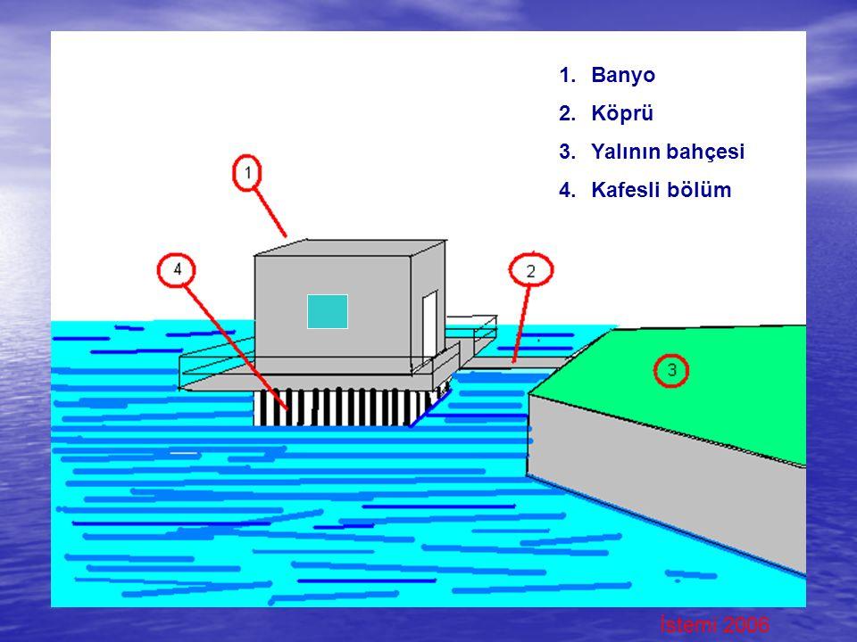 Banyo Köprü Yalının bahçesi Kafesli bölüm İstemi 2006