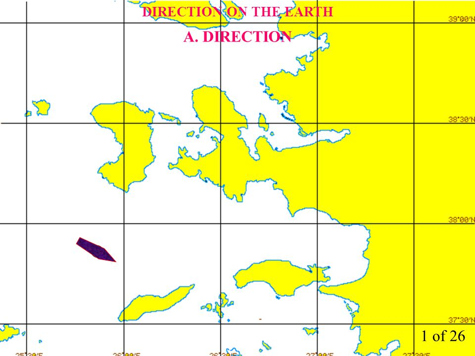 DIRECTION ON THE EARTH A. DIRECTION 1 of 26