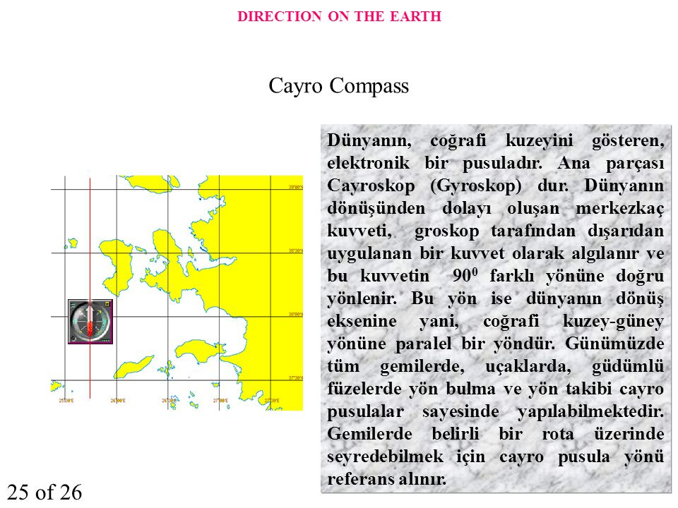 DIRECTION ON THE EARTH Cayro Compass 25 of 26