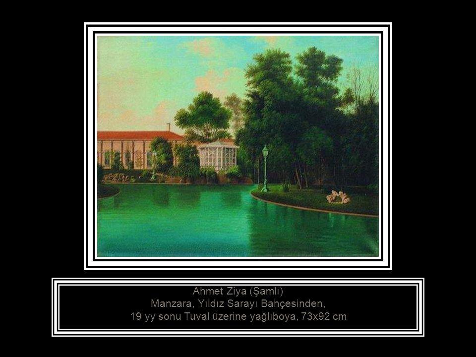 Ahmet Ziya (Şamlı) Manzara, Yıldız Sarayı Bahçesinden,