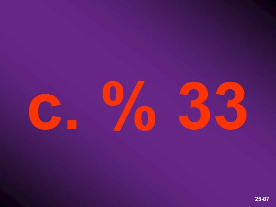 c. % 33