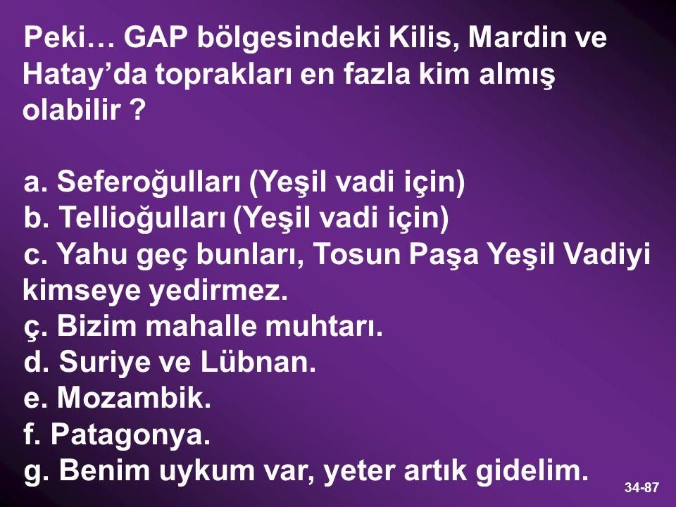 Peki… GAP bölgesindeki Kilis, Mardin ve Hatay'da toprakları en fazla kim almış olabilir