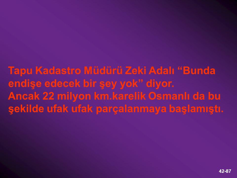 Tapu Kadastro Müdürü Zeki Adalı Bunda endişe edecek bir şey yok diyor.