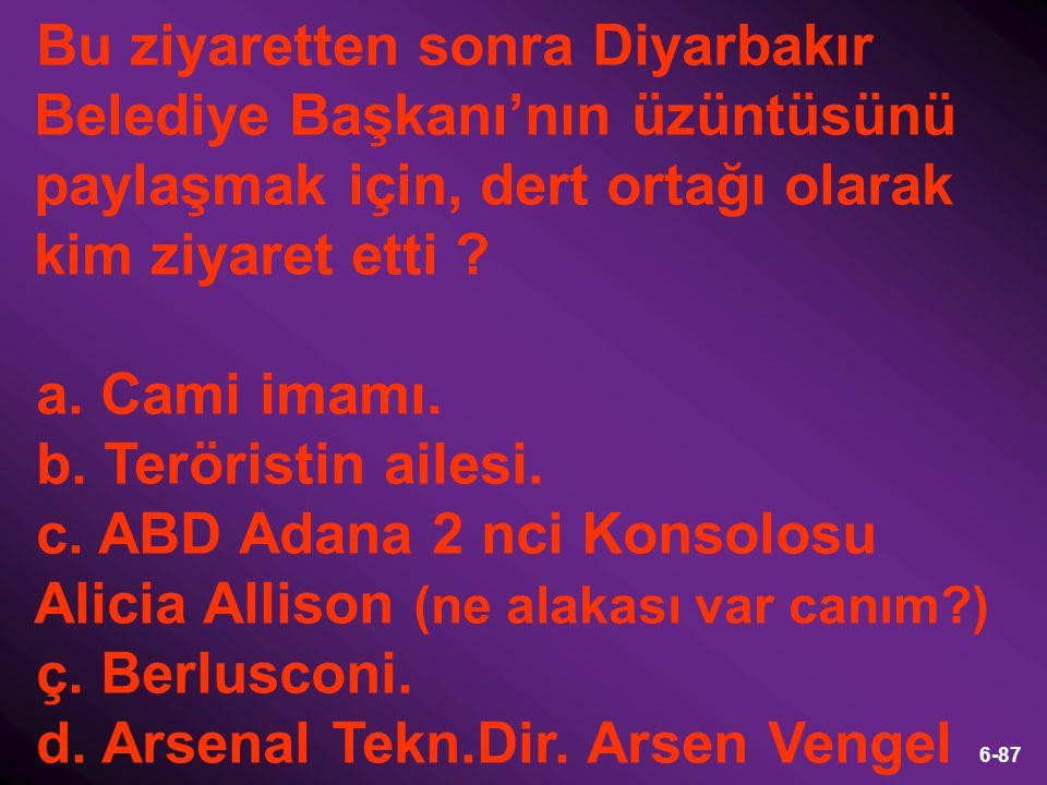 Bu ziyaretten sonra Diyarbakır Belediye Başkanı'nın üzüntüsünü paylaşmak için, dert ortağı olarak kim ziyaret etti