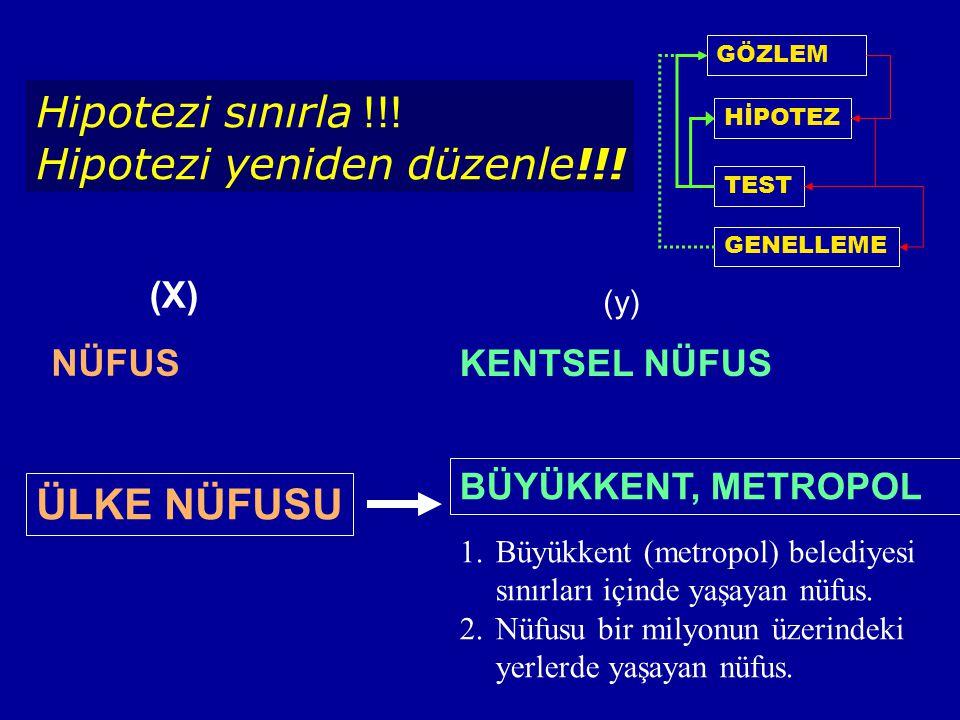 Hipotezi yeniden düzenle!!!