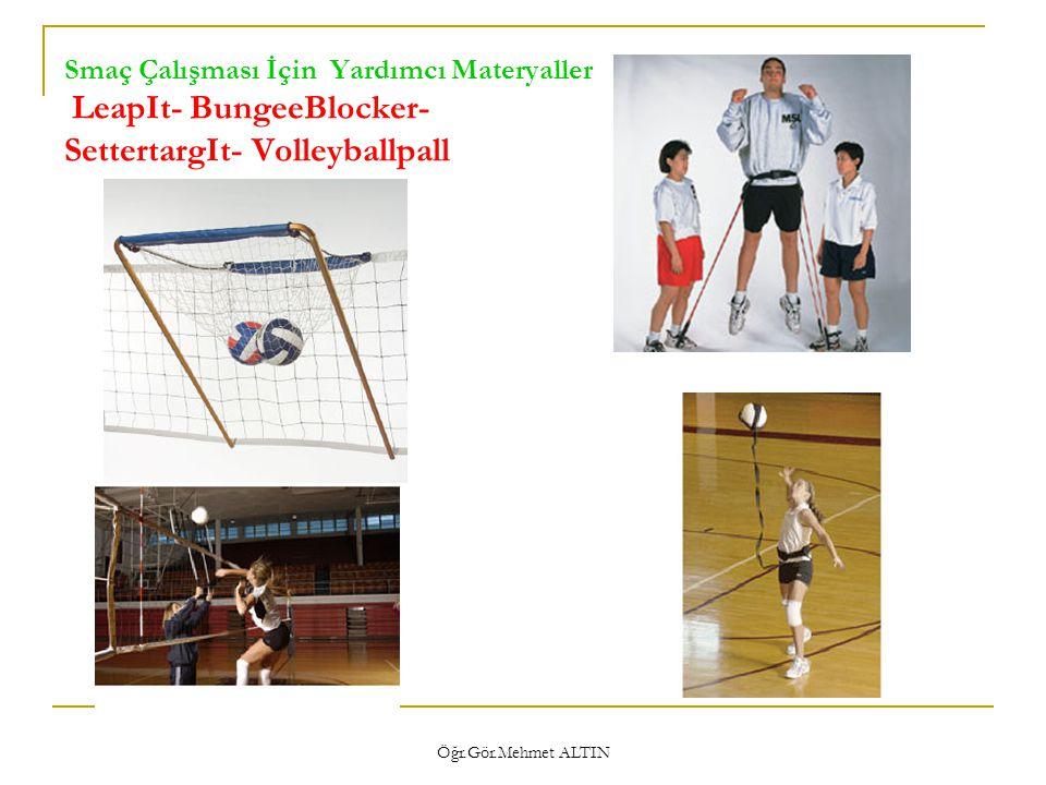 Smaç Çalışması İçin Yardımcı Materyaller LeapIt- BungeeBlocker- SettertargIt- Volleyballpall