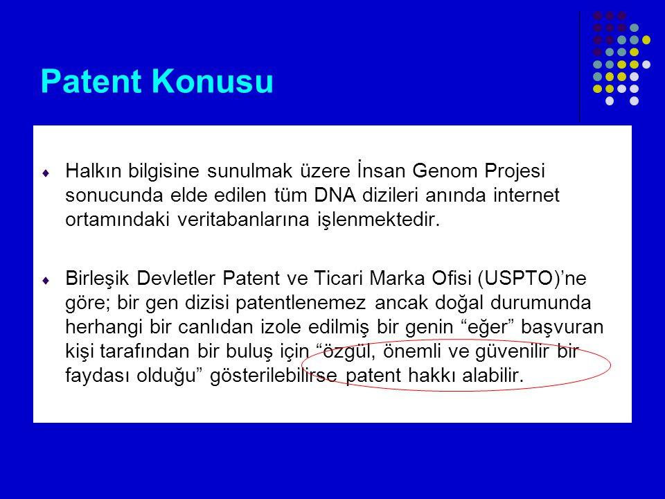 Patent Konusu