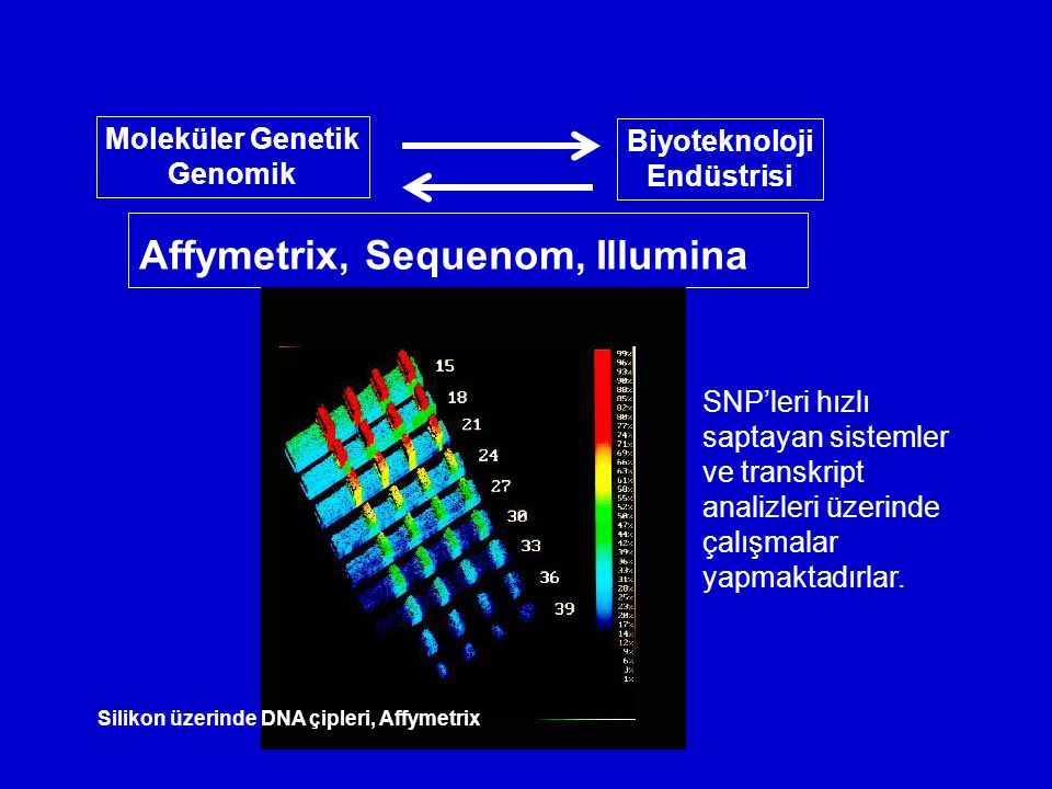 Affymetrix, Sequenom, Illumina