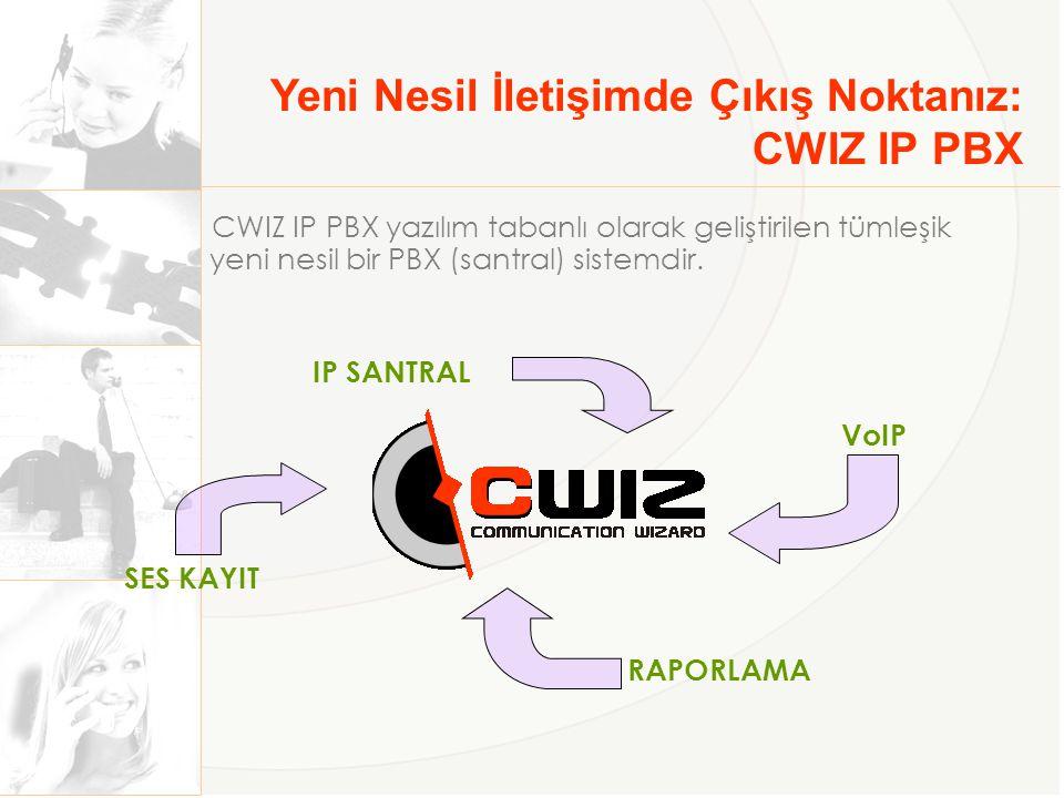 Yeni Nesil İletişimde Çıkış Noktanız: CWIZ IP PBX