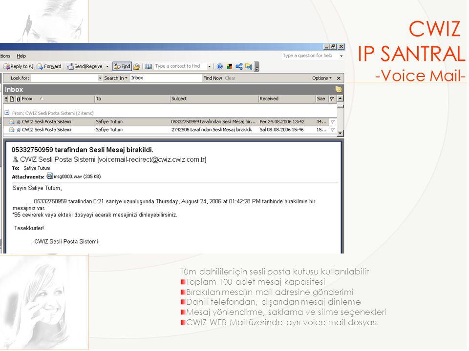 CWIZ IP SANTRAL -Voice Mail-