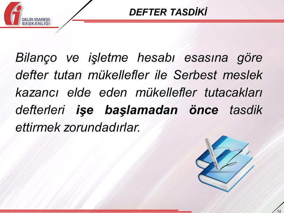 DEFTER TASDİKİ