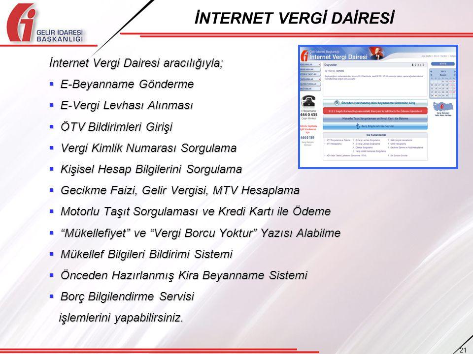İNTERNET VERGİ DAİRESİ