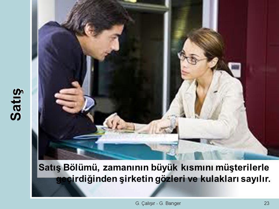 Satış Satış Bölümü, zamanının büyük kısmını müşterilerle