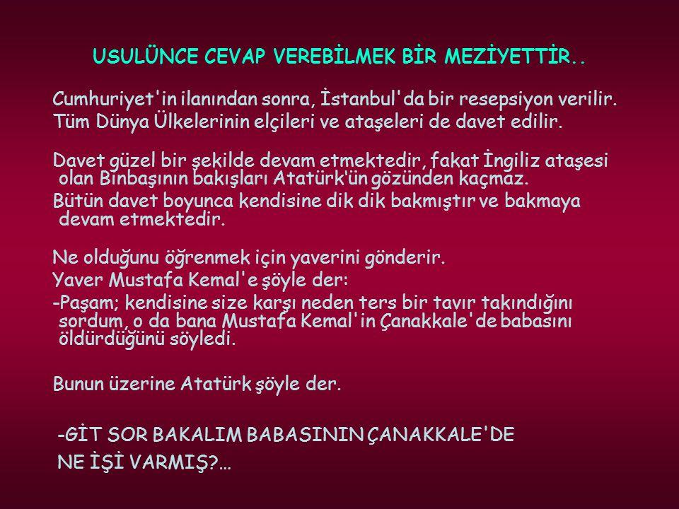 USULÜNCE CEVAP VEREBİLMEK BİR MEZİYETTİR..