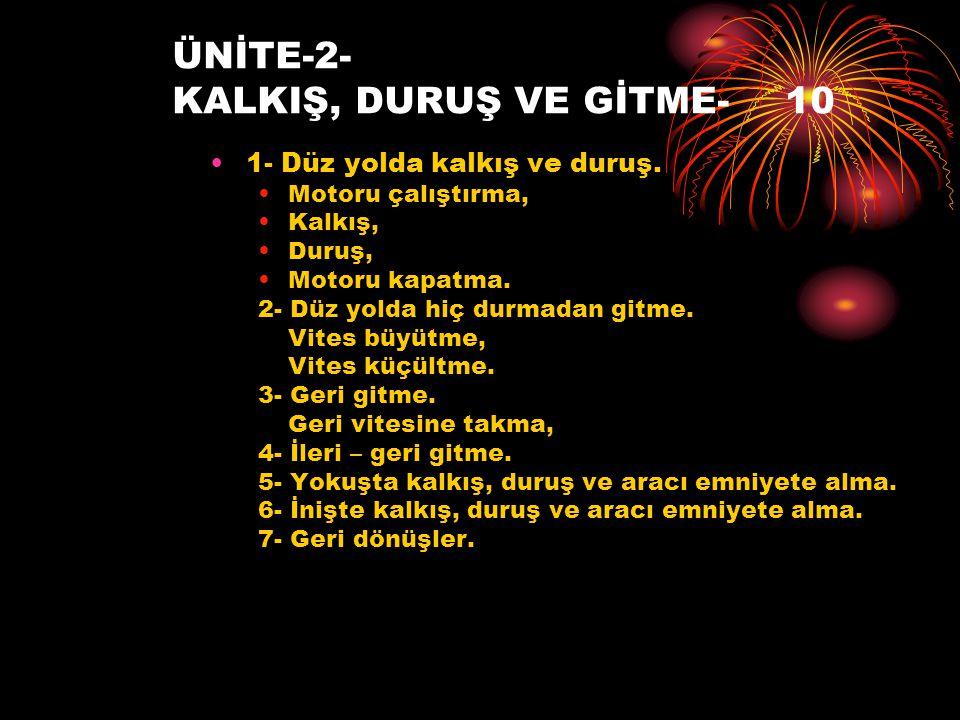 ÜNİTE-2- KALKIŞ, DURUŞ VE GİTME- 10