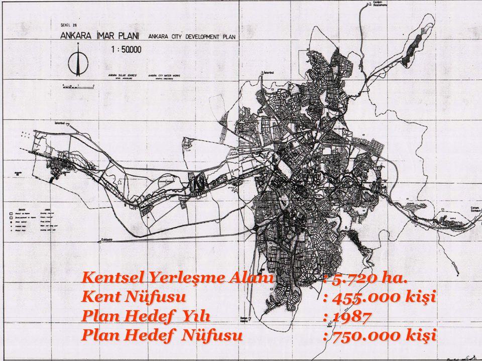 Kentsel Yerleşme Alanı : 5.720 ha.
