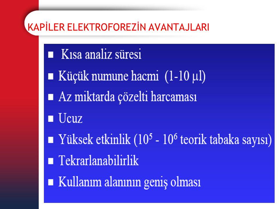 KAPİLER ELEKTROFOREZİN AVANTAJLARI