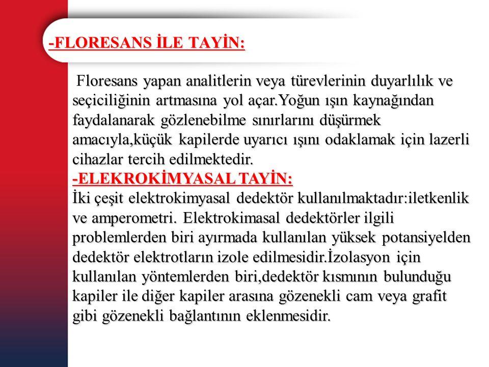 -FLORESANS İLE TAYİN: