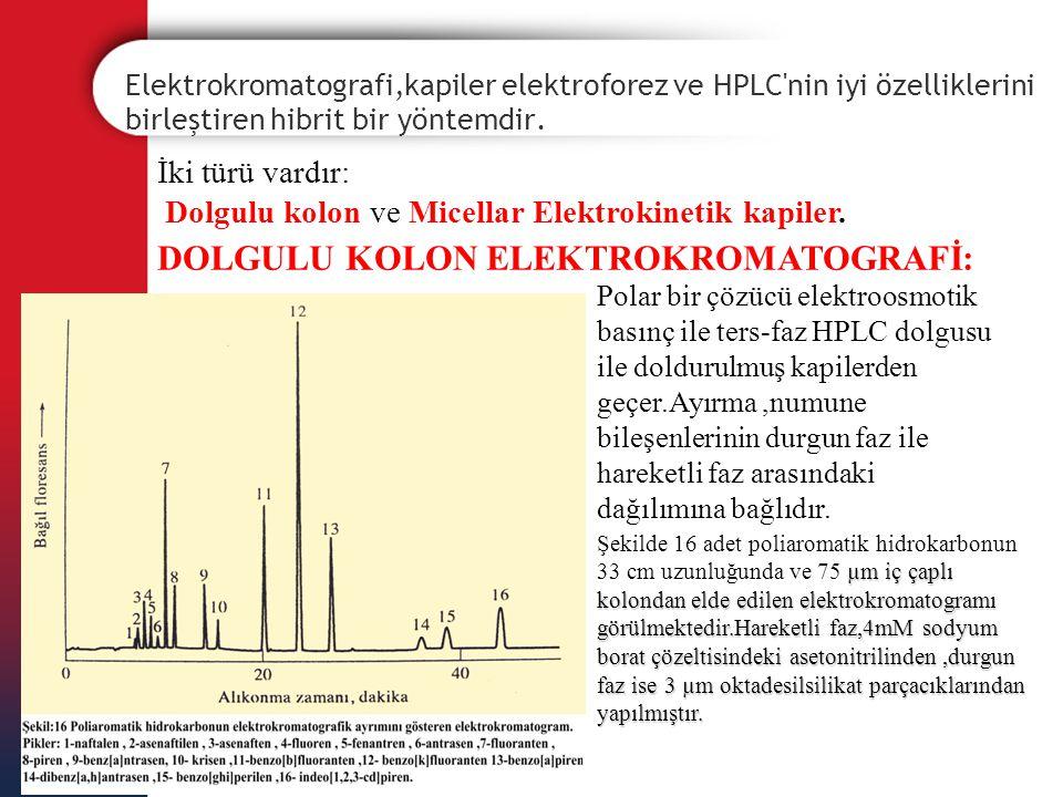 DOLGULU KOLON ELEKTROKROMATOGRAFİ: