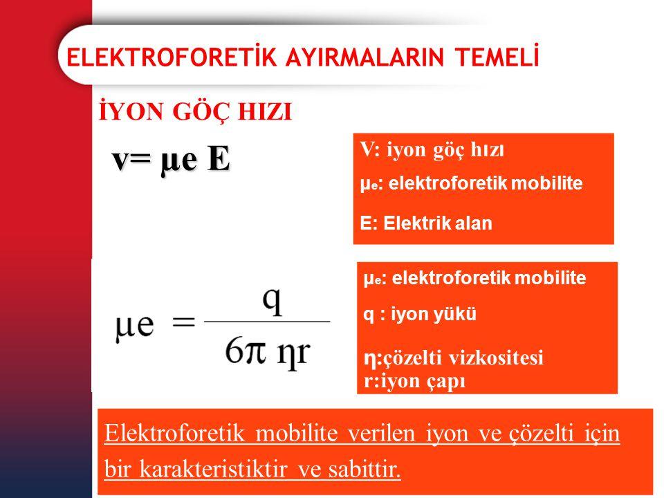 ELEKTROFORETİK AYIRMALARIN TEMELİ