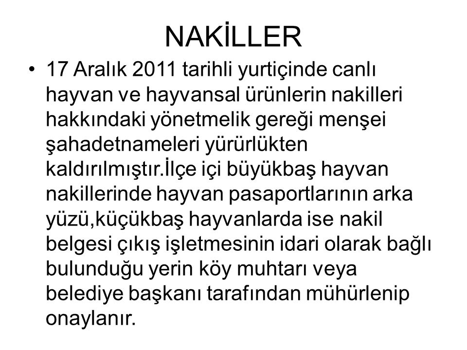 NAKİLLER
