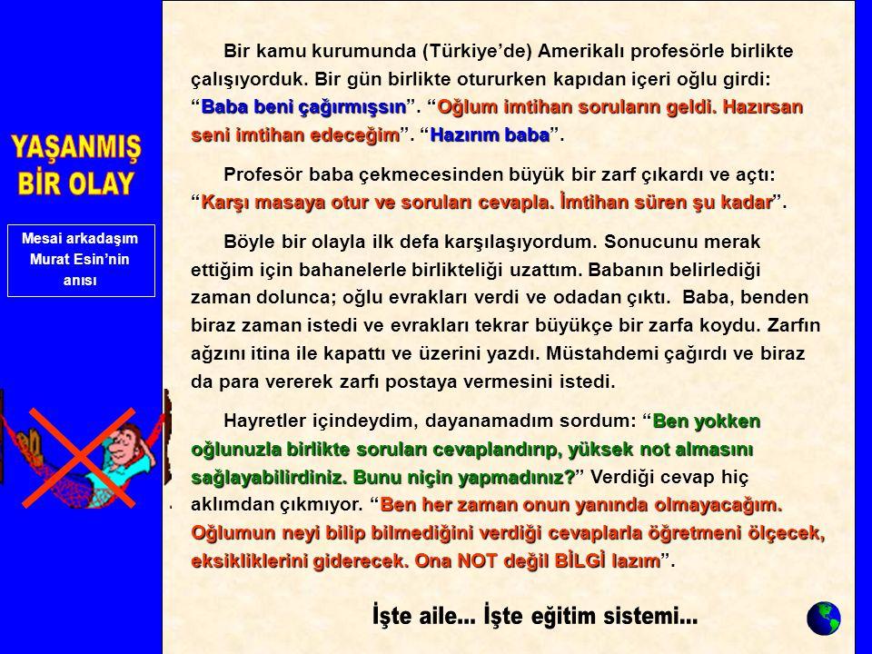 Mesai arkadaşım Murat Esin'nin anısı