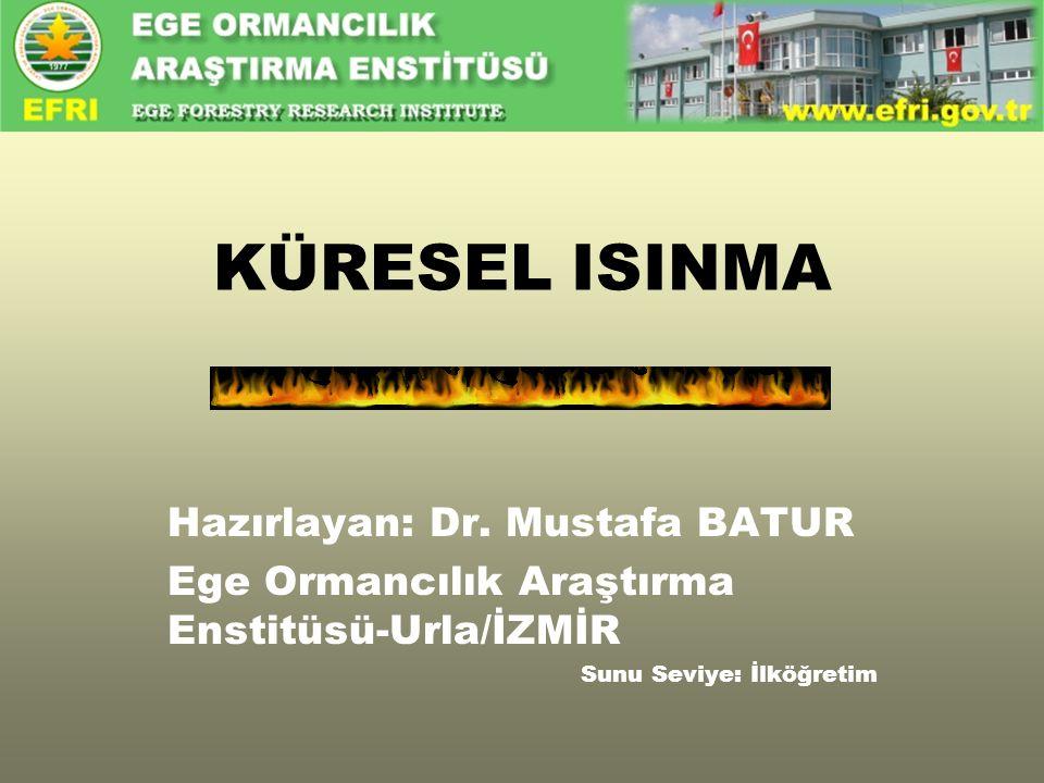 KÜRESEL ISINMA Hazırlayan: Dr. Mustafa BATUR