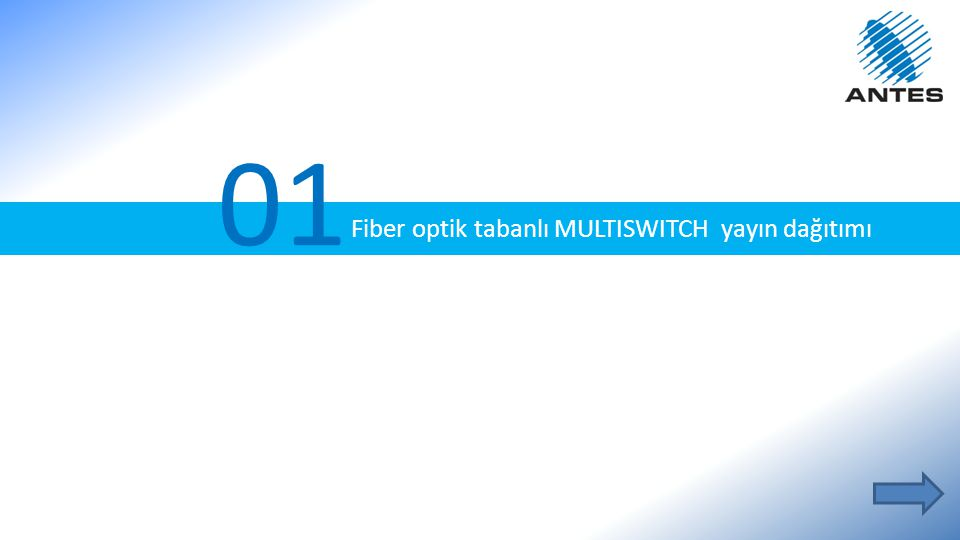 01 Fiber optik tabanlı MULTISWITCH yayın dağıtımı