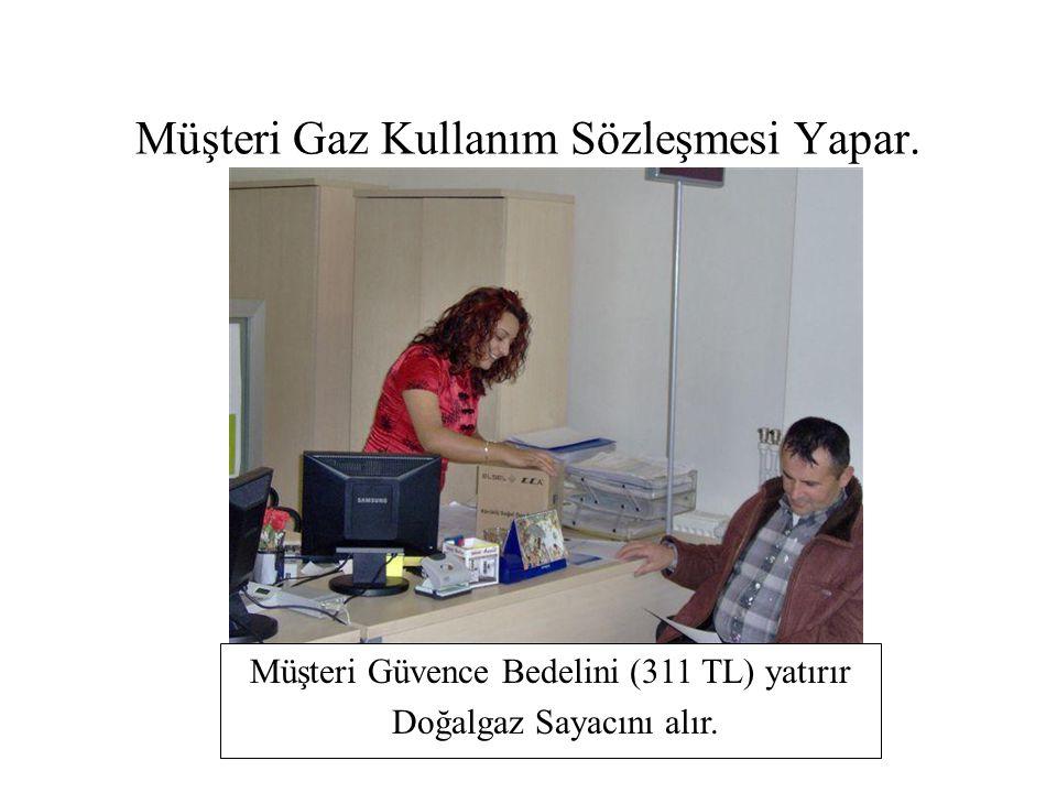 Müşteri Gaz Kullanım Sözleşmesi Yapar.