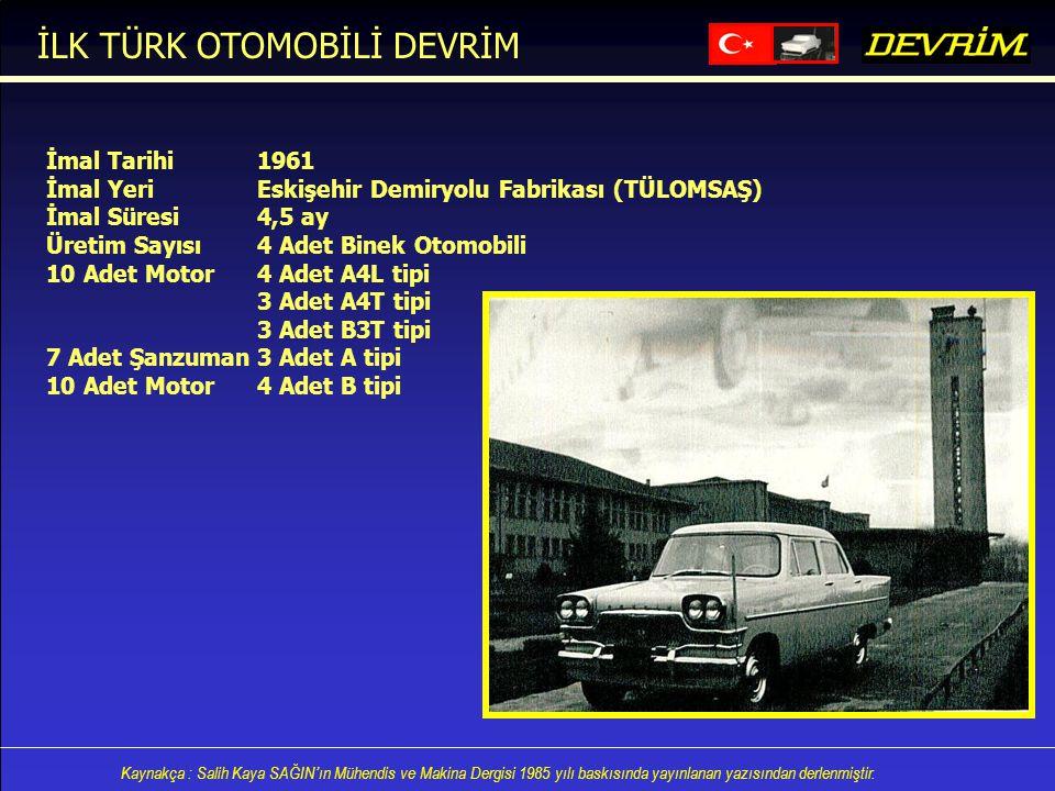 İLK TÜRK OTOMOBİLİ DEVRİM