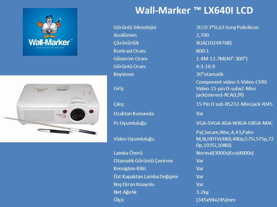 Wall-Marker ™ LX640I LCD Görüntü Teknolojisi
