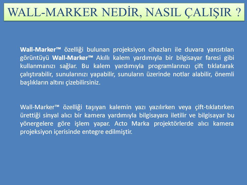 WALL-MARKER NEDİR, NASIL ÇALIŞIR