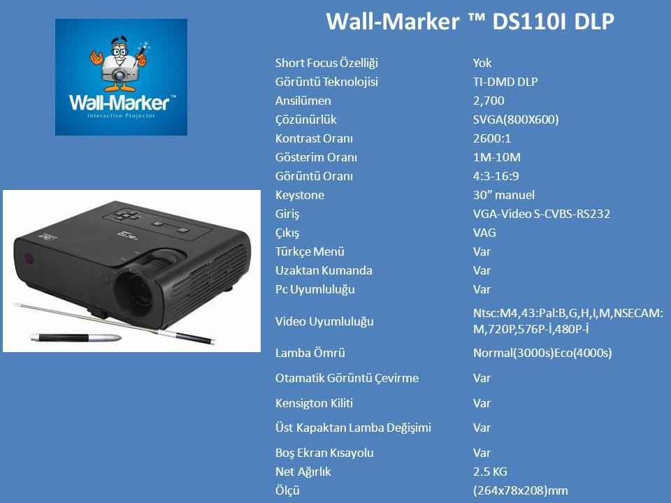 Wall-Marker ™ DS110I DLP Short Focus Özelliği Yok Görüntü Teknolojisi