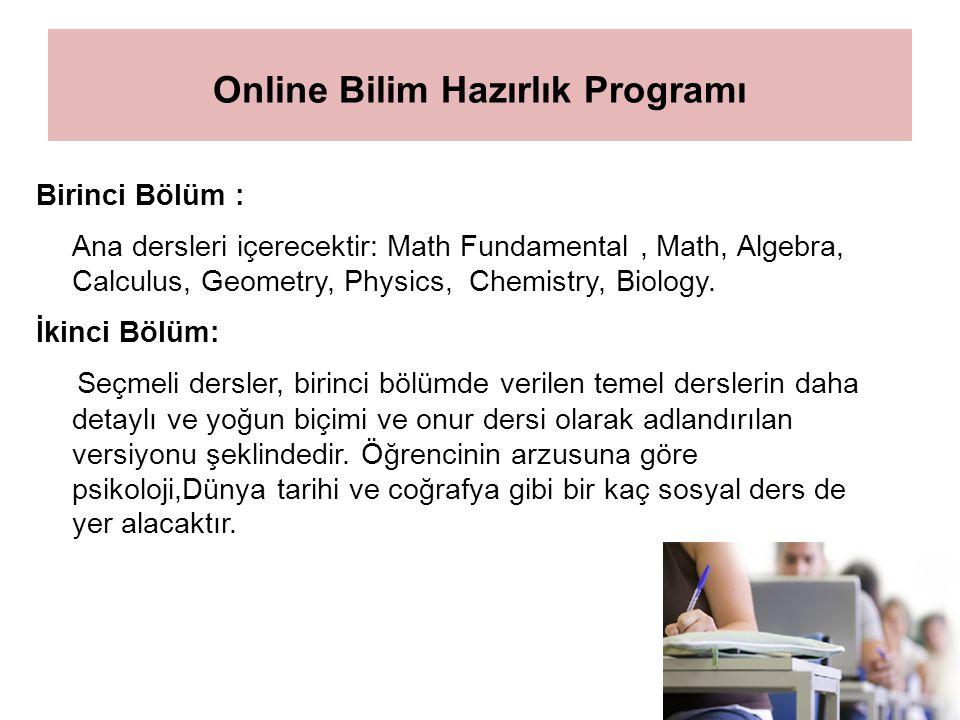 Online Bilim Hazırlık Programı