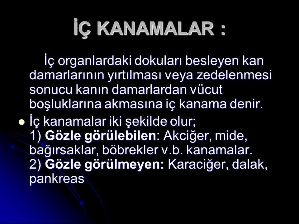 İÇ KANAMALAR :