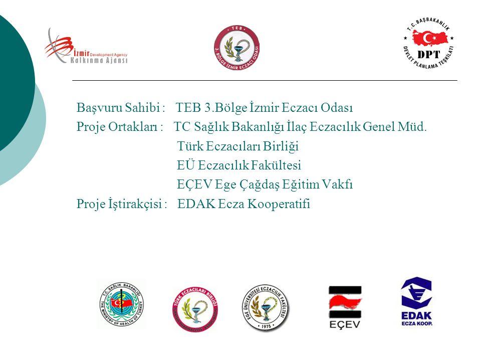 Başvuru Sahibi : TEB 3.Bölge İzmir Eczacı Odası