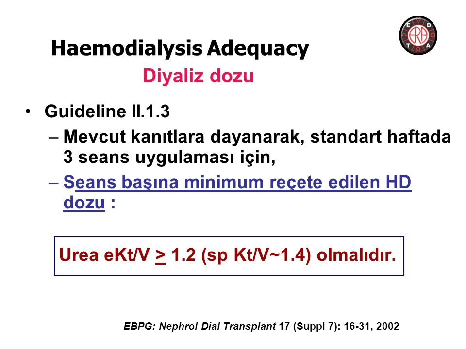 Haemodialysis Adequacy