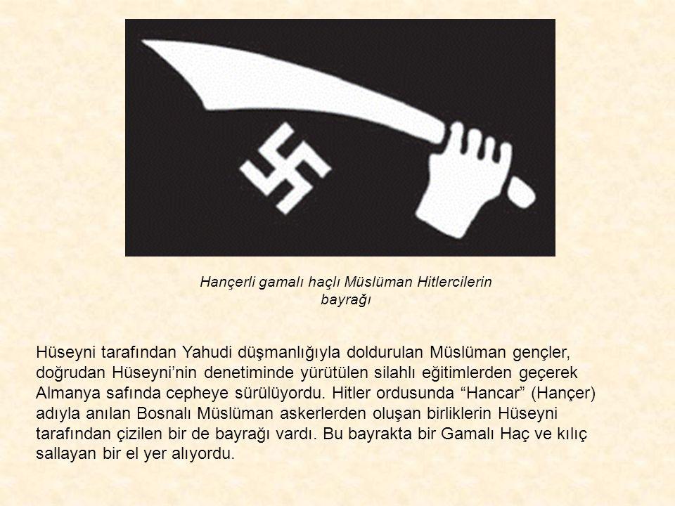 Hançerli gamalı haçlı Müslüman Hitlercilerin bayrağı